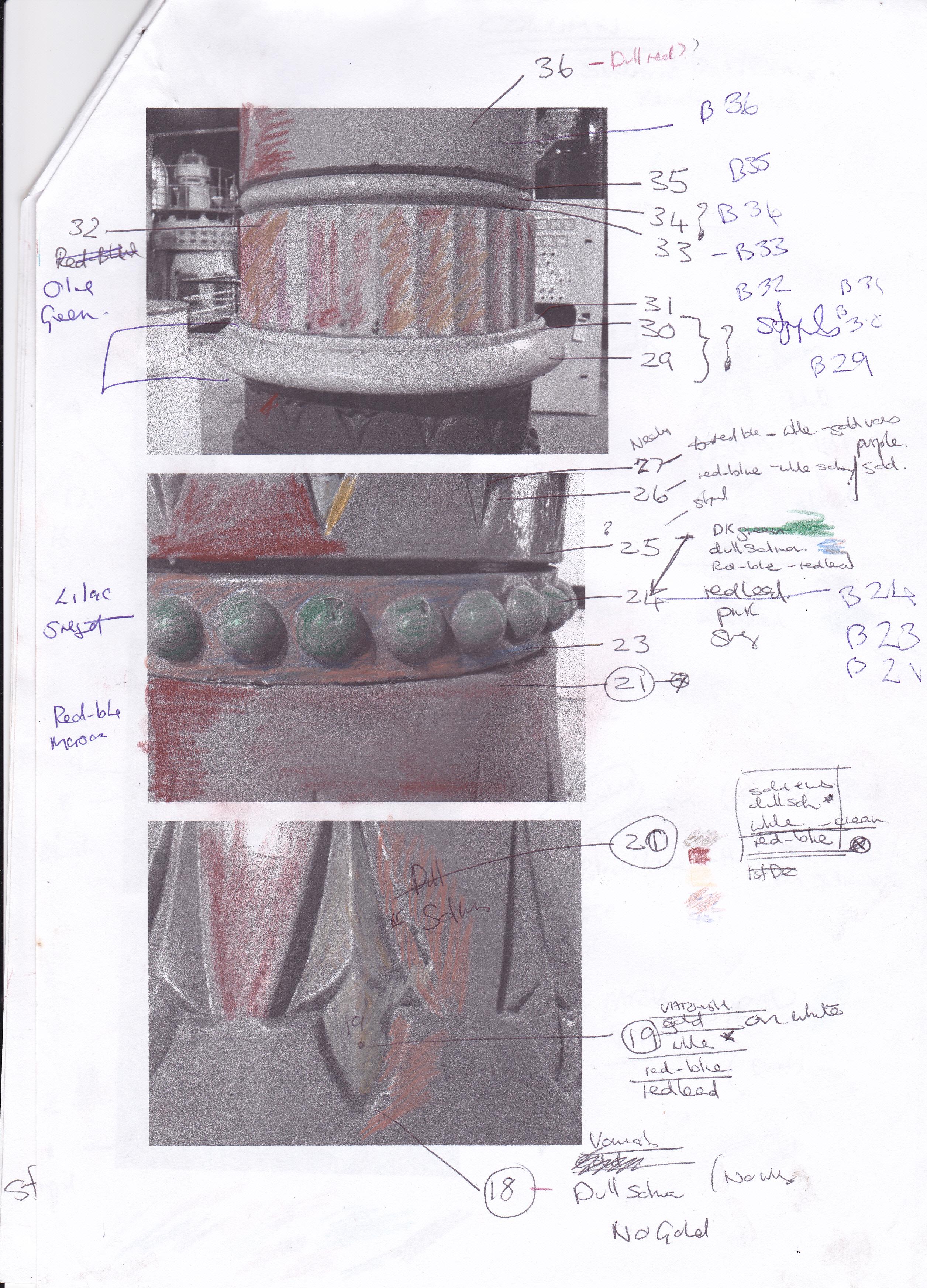Base of column 1